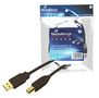 MediaRange USB Kabel A -> B St/St 1.80m F-FEEDS