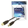 MediaRange USB Kabel A -> B St/St 5.00m F-FEEDS