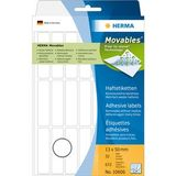 HERMA Self-adhesive labels HERMA movables, 32 sheets, 672 labels, 13mm x 50mm, 10606