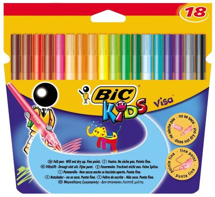 KIDS Visacolor XL Color Marker Black (box of 12)