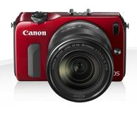 CANON EOS M RED + EF-M 18-55MM F/3.5-5.6 IS STM+SPEEDLIGHT90EX ND