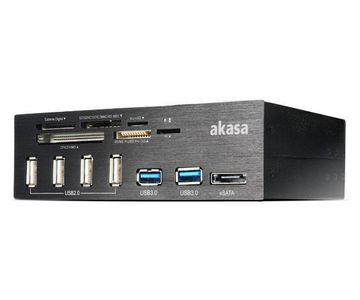 AKASA AK-HC-05U3BK Internal 6-Port USB 3.0 Card Reader - schwarz (AK-HC-05U3BK)
