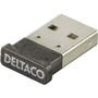 DELTACO Bluetooth 4.0 adapter, USB 2.0, CSR 4.0, 3 Mb/s, svart