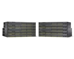 CISCO Switch/ Cat 2960-X 24GigE 370W 4x1G SFP (WS-C2960X-24PS-L)
