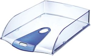 Letter tray Allura PS A4 crystal blue Leitz 5200