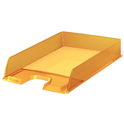 Letter tray Europost translucent yellow** NEW **