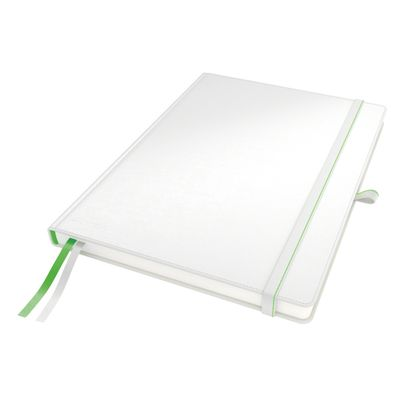 COMPLEET NOTEBOOK LEITZ HARDBACK A4 CHECKED WHITE