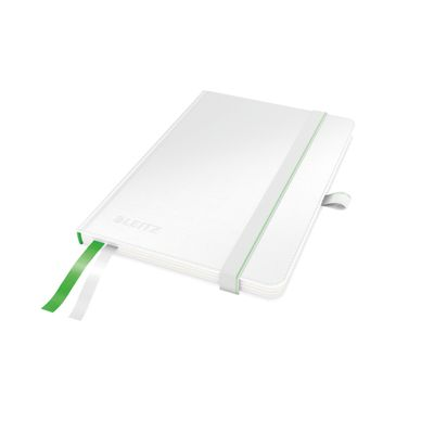 COMPLEET NOTEBOOK LEITZ HARDBACK A6 CHECKED WHITE