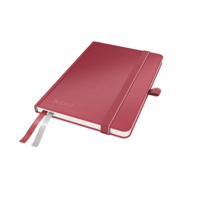 COMPLEET NOTEBOOK LEITZ HARDBACK A6 CHECKED RED