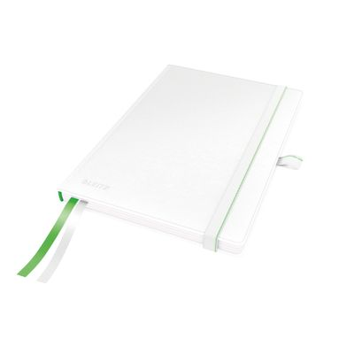 COMPLEET NOTEBOOK LEITZ HARDBACK A5 CHECKED WHITE