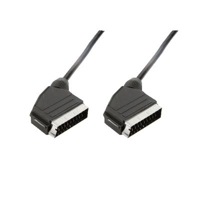 Scart cable, 2x Scart male, 3,0m