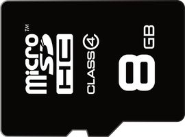 memory card micro SDHC 8GB,class 4 ,|15MB/s 6MB/s|+ adapter