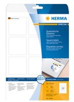 LABELS MOVABLE HERMA A4 60X60MM WHITE
