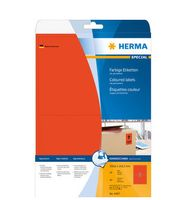 LABELS HERMA SUPERPRINT 199, 6X143, 5MM RED