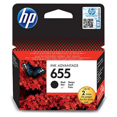 INK CARTRIDGE 655 BLACK IN