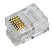 Modular Plug for flat cables, RJ12 6P6C