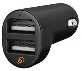 Cygnett Dual USB car charger 5V 2_1A Black
