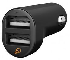 Dual USB car charger 5V 2_1A Black