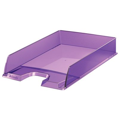 Letter tray Europost translucent purple ** NEW **