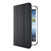 "BELKIN TRI-FOLD COVER WITH STAND BLACK - SAMSUNG GALAXY TAB 3 8"" (F7P135VFC00)"