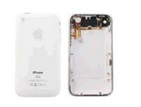 MicroSpareparts Bakdeksel - hvit - for Apple iPhone 3GS (MSPP1760)