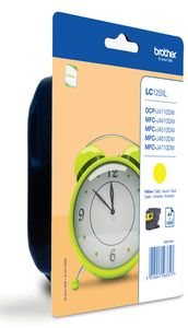 BROTHER LC-125XL yellow 1.200 pages (LC-125XLYBP)