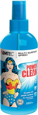 Emtec multisurface spray 250 ml+microfiber cloth|Wonder Woman|range Power Claen