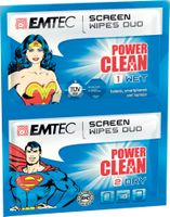 Emtec wipes for TFT/LCD 20pcs | 10 dry+10 wet| Superman & Wonder Woman
