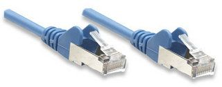 INTELLINET Patchkabel RJ45 SF/UTP Cat5e 7.50m blau (330862)