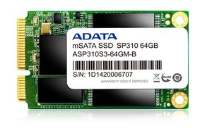 A-DATA SSD 64GB 180/410 SP310 mSA ADA (ASP310S3-64GM-C)