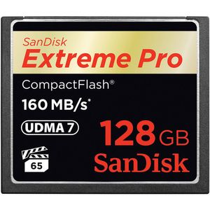 SANDISK COMPACT FLASH CARD 128GB EXTREME PRO 160MB/S VERSION      IN EXT (SDCFXPS-128G-X46)