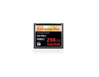 SANDISK COMPACT FLASH CARD 256GB EXTREME PRO 160MB/S VERSION      IN EXT (SDCFXPS-256G-X46)
