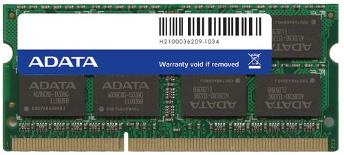 A-DATA ADATA DDR3 1333MHz DIMM 4GB SO-DIMM (AD3S1333W4G9-S)