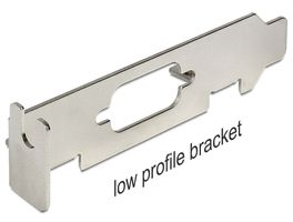 DELOCK Bracket Low Profile w/ D-Sub9 (82713)