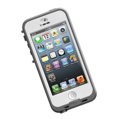 iPhone 5s nuud Case White/ Grey