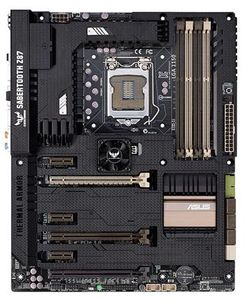 ASUS SABERTOOTH Z87, Socket-1150 ATX,  Z87, DDR3, 3xPCIe-x16,  SLI/CFX, HDMI, DP, TUF Thermal Armor (SABERTOOTH Z87)