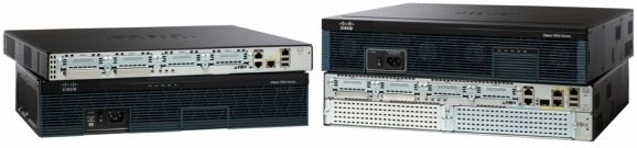 CISCO 2901 W/2 GE 4 EHWIC 2 DSP 256MB CF 512MB DRAM IP BASE EN