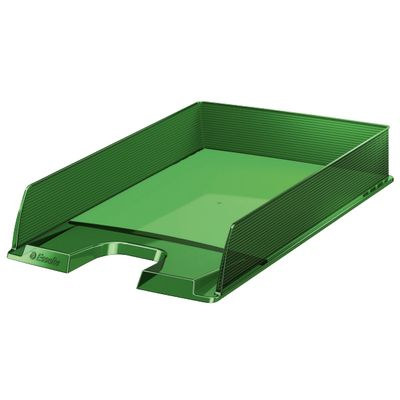 Letter tray Esselte Europost translucent green ** NEW **