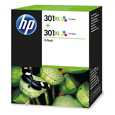 301XL 2-pack High Yield Tri-color Original Ink Cartridges