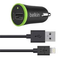 Belkin CHARGER CAR W/SYNC LIGHTNING CABLE F/IPHONE 5       IN ACCS (F8J026BT04-BLK)