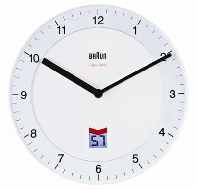 BNC 006 Wall Clock white