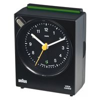 BRAUN BNC 004 black Voice Activated Alarm Clock (66006)