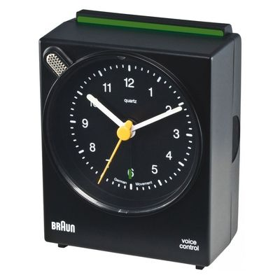 BNC 004 black Voice Activated Alarm Clock