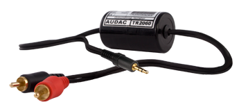 AUDAC TR2060 Ground loop isolator 3,5JackM 2RCA Male (TR2060)