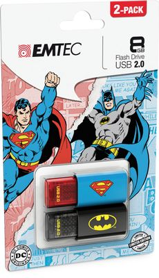 USB-Stick 8GB C600 Bat/ Superman Doppelpack USB 2.0