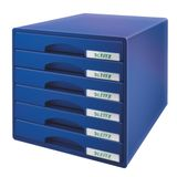 LEITZ DRAWER UNIT PLUS 6 DRAWERS BLUE