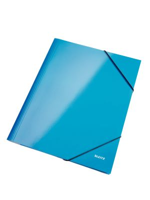 3 Flap folder A4 WOW blue metallic Leitz 3982