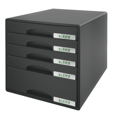 DRAWER UNIT PLUS 5 DRAWERS BLACK
