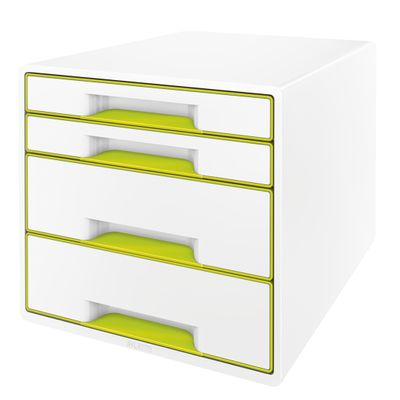 DRAWER UNIT WOW 4 DRAWERS WHITE/ GREEN