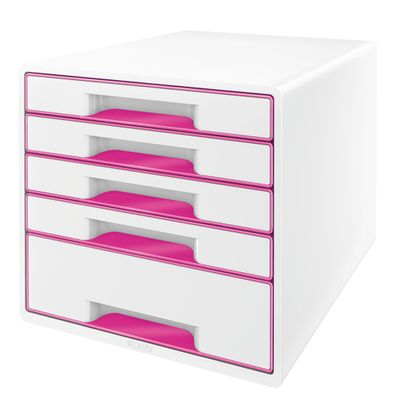 DRAWER UNIT WOW 5 DRAWERS WHITE/ PINK